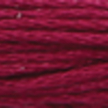 very dark tawny purple colour in six strand cotton floss, like deep red wine.